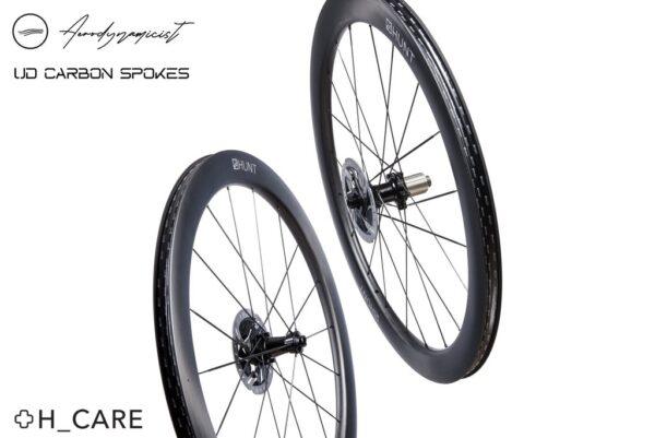 HUNT 54 UD Carbon Spoke Disc set roti Wheelsports