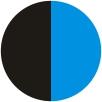 Negru/Albastru/Mat