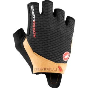 Manusi Castelli Rosso Corsa Pro V Negru/Tan - Wheelsports