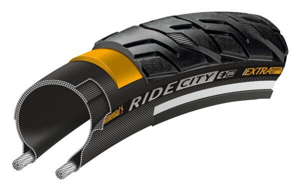 Anvelopa Continental Ride City Reflex EXTRa PunctureBelt 32-622 (28*1 1/4 *1 3/4) negru - Wheelsports