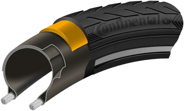 Anvelopa Continental Ride Classic Reflex EXTRA PunctureBelt 42-622 (28*1.6) negru/negru - Wheelsports