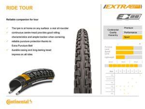 Anvelopa Continental Ride Tour 16*1.75 (47-305)-negru - Wheelsports