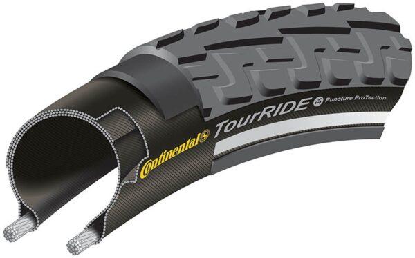 Anvelopa Continental Ride Tour Reflex Puncture-ProTection 42-622 (28*1.6) negru/negru - Wheelsports